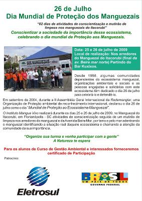 Campanha Dia Mundial de Proteção dos Manguezais