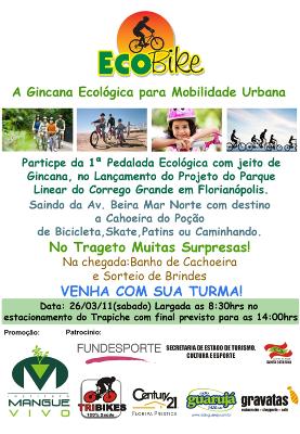 Panfleto da Ginacana Ecológica para Mobilidade Urbana